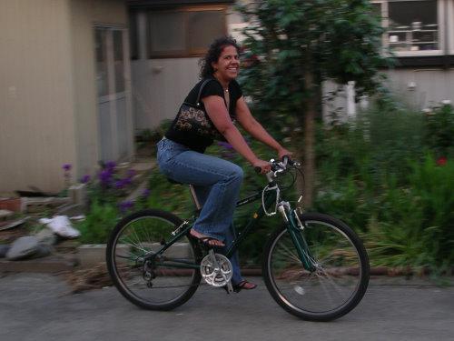 Yes, Mona, it's the MoojooKen bag. Word of caution: heels as bike ...